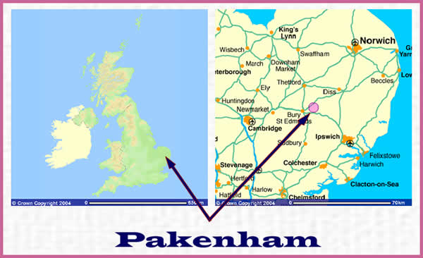Maps for Pakenham - UK